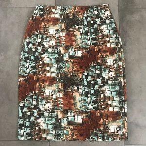 {betsey Johnson} multi print stretch pencil skirt!